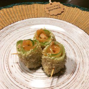 Makis de concombre au saumon fumé